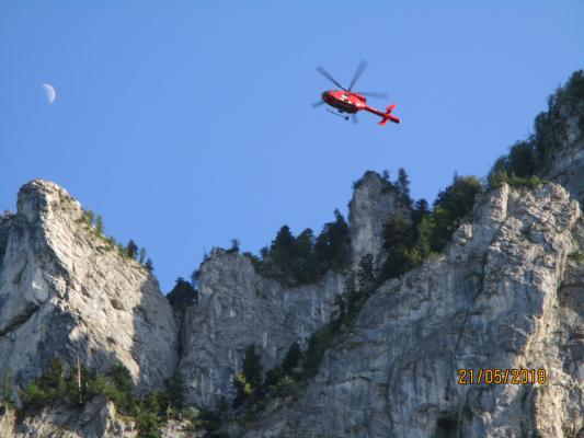Suchaktion nach abgestürzten Basejumper am 21.05.2018