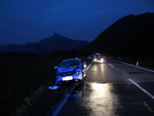 Verkehrsunfall B154 am 29.09.2017