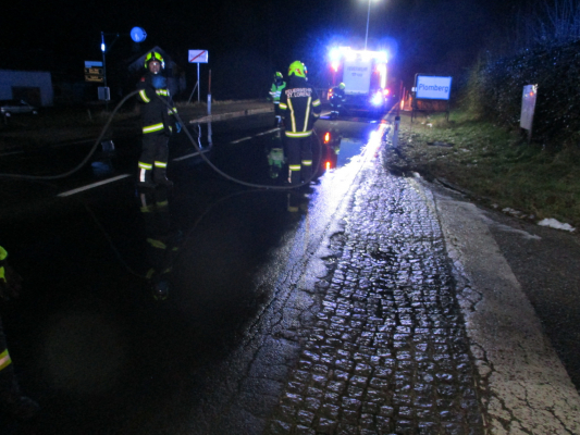 Verkehrsunfall in Plomberg am 05.12.2020