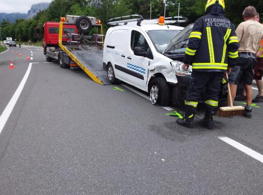 Verkehrsunfall B154 am 14.07.2021