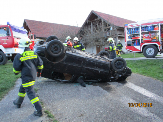 Übung: Verkehrsunfall eingeklemmte Person am 10.04.2018
